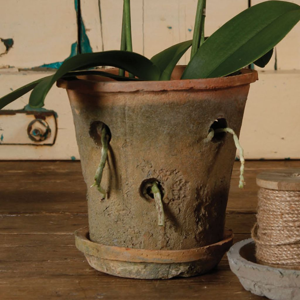 Rustic Terra Cotta Orchid Pot Antique Red Areohome