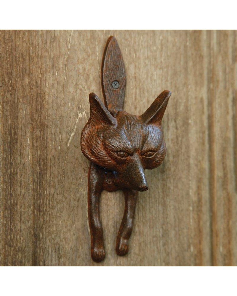 HomArt Fox Door Knocker - Cast Iron Rust