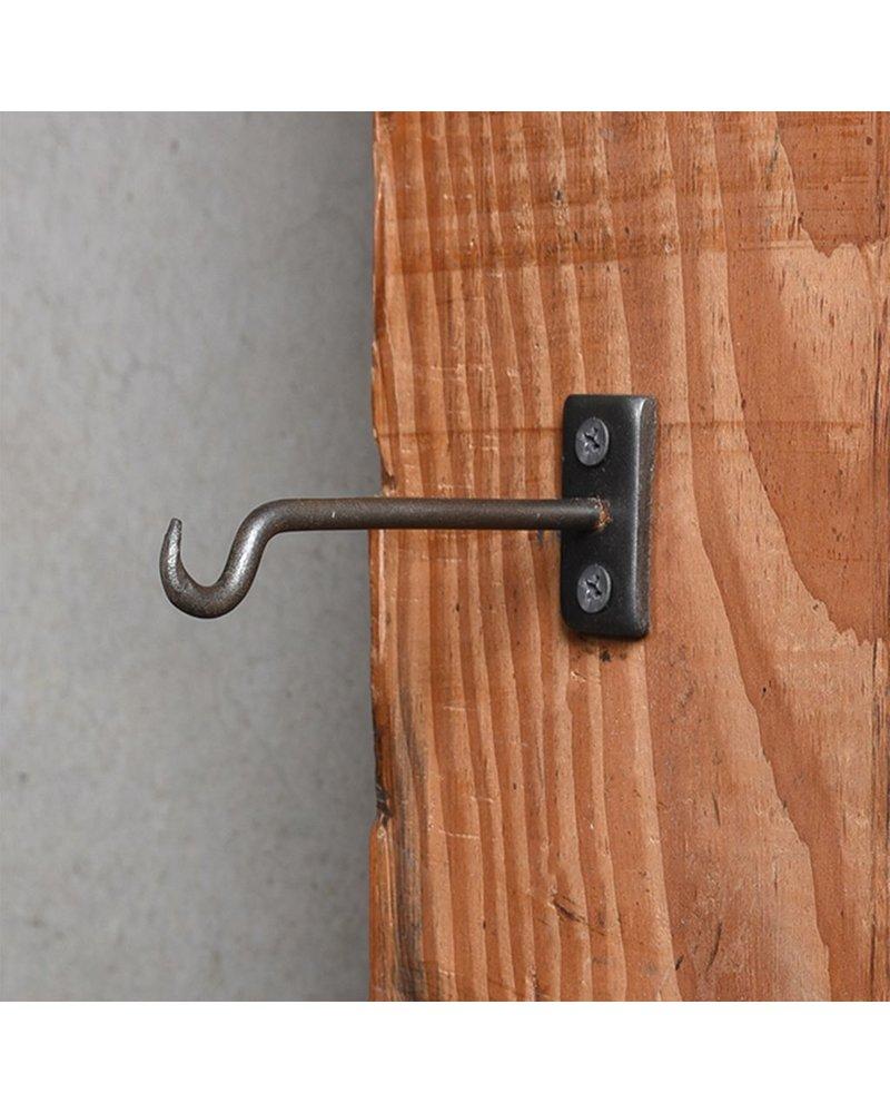 HomArt Bijou Wall Hook 4 in - Steel Natural - Set of 2
