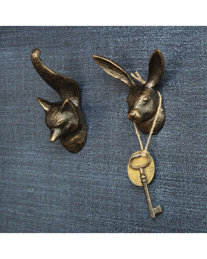 HomArt Fox Wall Hook - Cast Iron
