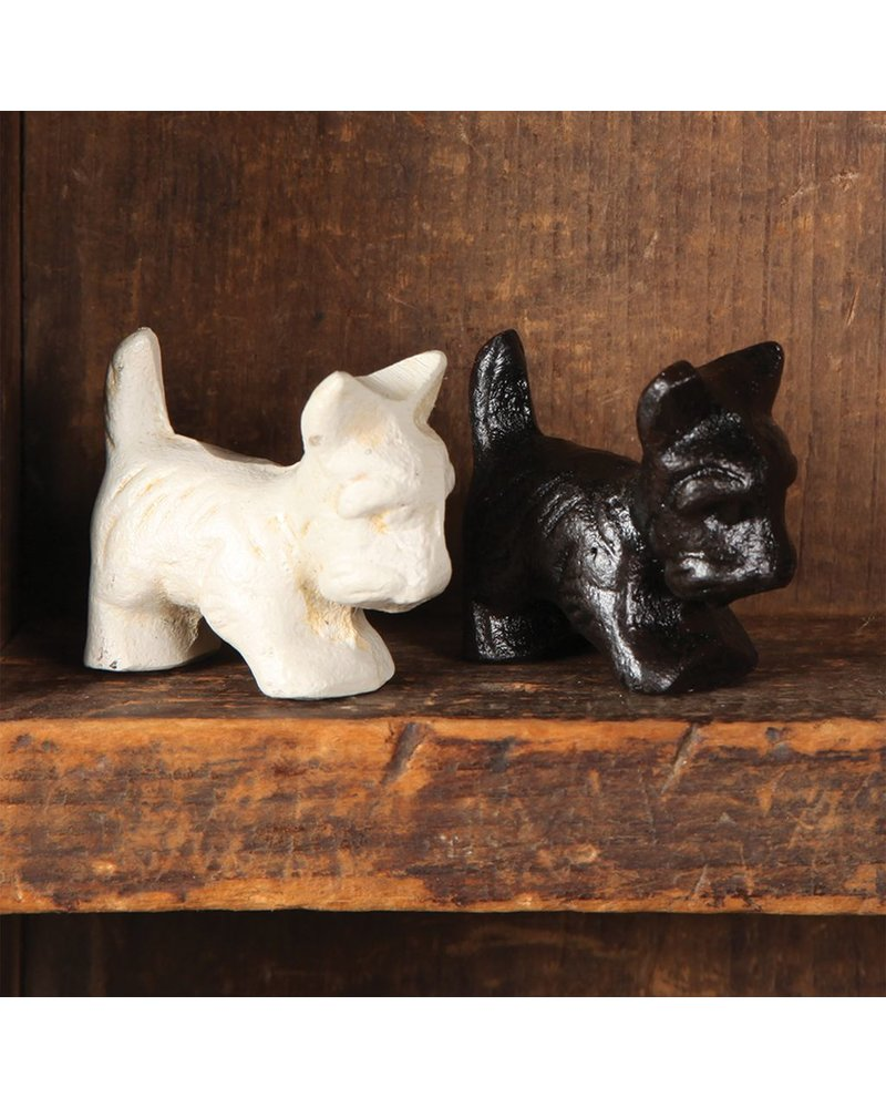 HomArt Baby Bentley the Westie - Cast Iron - Antique Black - Set of 3