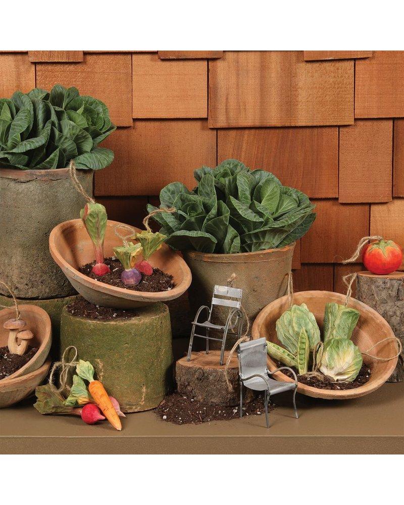 HomArt Carved Wood Vegetable Ornament - Tomato