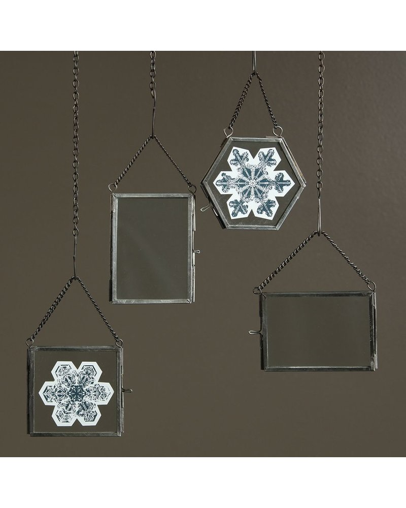 HomArt Pierre Ornament Frame - 2.5x3.5 Vertical Zinc - Set of 2