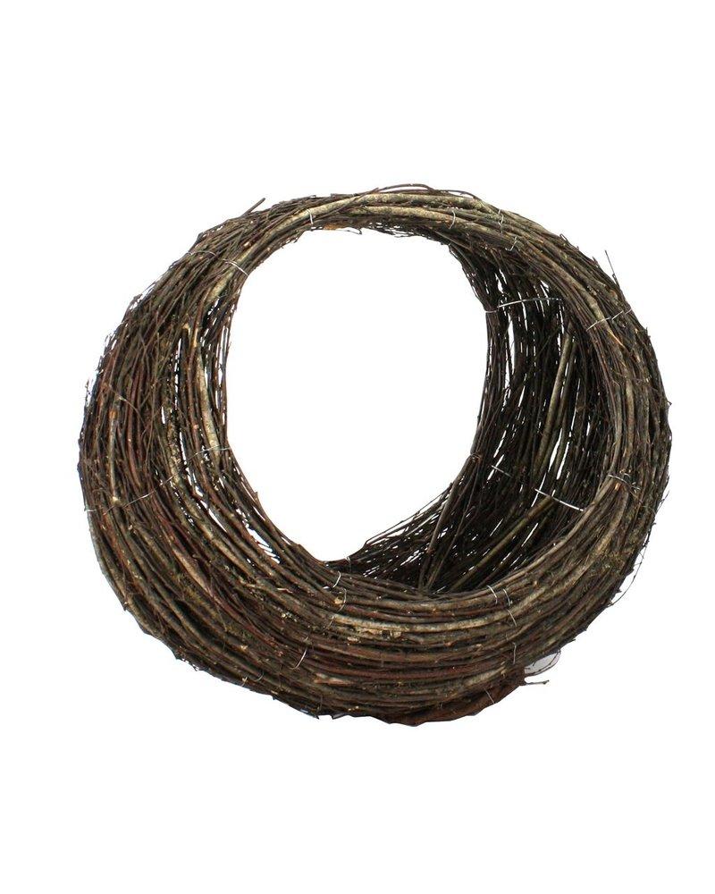 HomArt Willow Ellipse Baskets - Set of 3 Natural