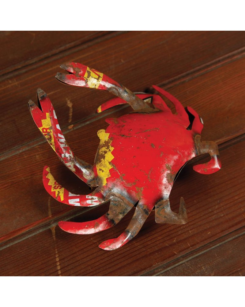 HomArt Reclaimed Metal Ornament - Crab
