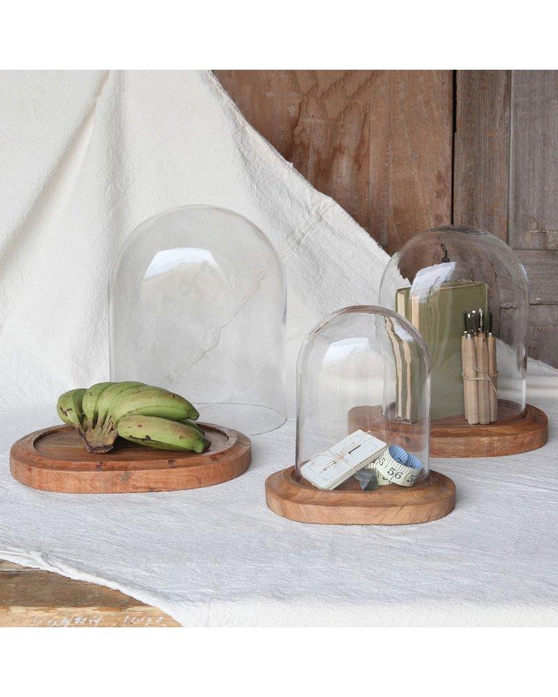 HomArt Oval Glass Dome-Lrg Clear