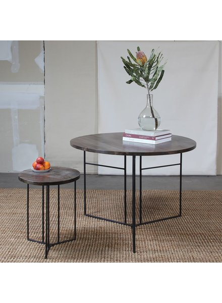 HomArt Studio Collapsing Round  Dining Table Grey