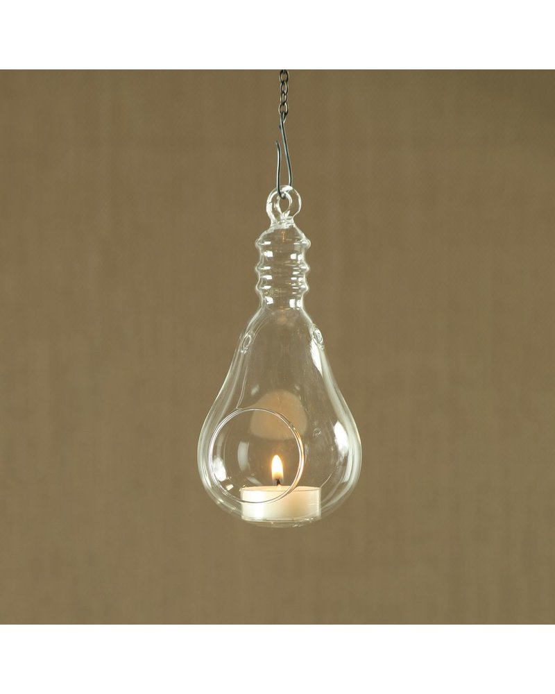 HomArt Hanging Glass Light Bulb - Sm Clear