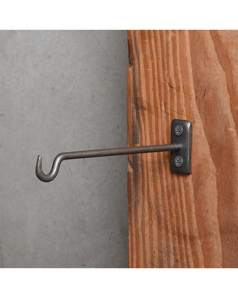 HomArt Bijou Wall Hook 6 in - Steel Natural - Set of 2