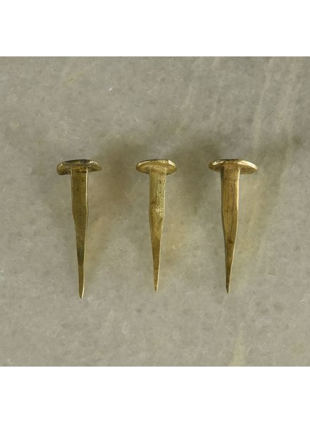 HomArt HomArt Forged Iron Nail-Brass Set of 6