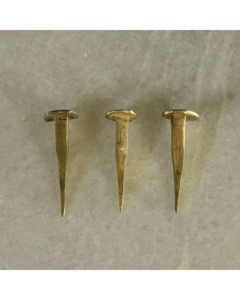 HomArt HomArt Forged Iron Nail-Brass Set of 6
