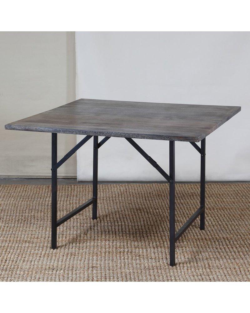 HomArt Camp Folding Table - Sqr Grey