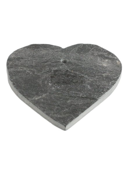 HomArt Black Slate Heart with Hole for Hanging