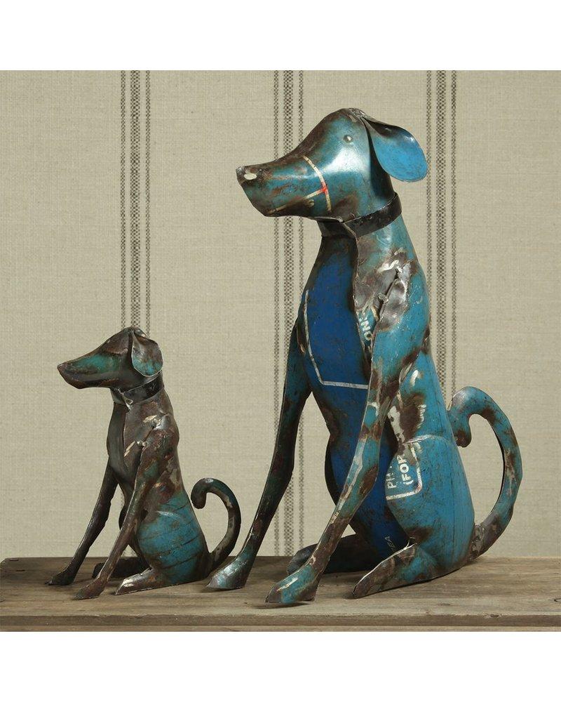 HomArt Reclaimed Metal Sitting Dog - Sm