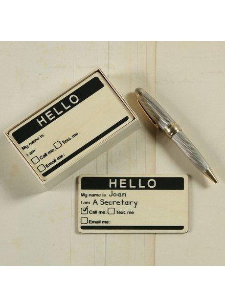 HomArt Calling Card - Box of 12 - Natural Wood Set of 6 Boxes