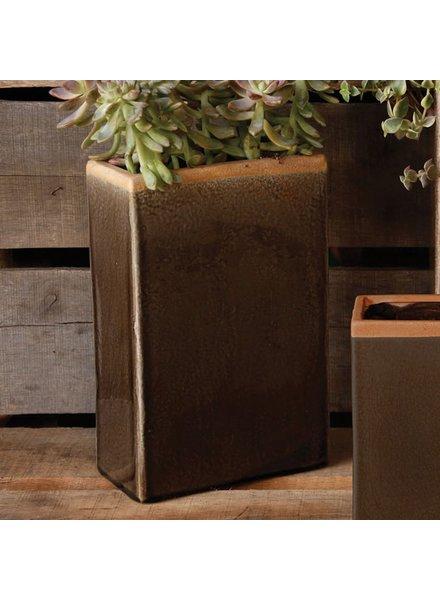 HomArt Mulberry Ceramic Rect Vase - Med - Espresso
