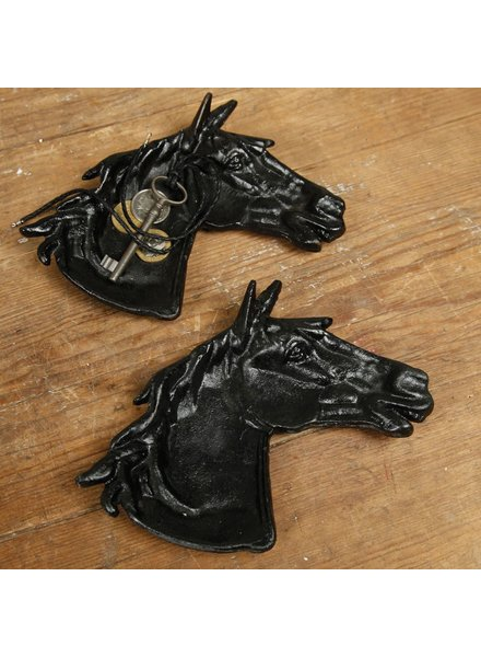 HomArt Horse Head Tray - Cast Iron - Antique Black