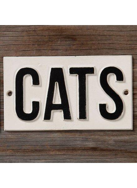 HomArt Cast Iron Sign - CATS