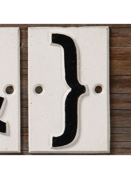 HomArt Cast Iron Sign - Fancy Edge Set of 6