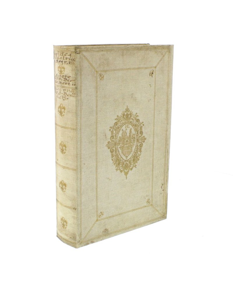 HomArt Vintage Canvas Book Box - Gold Band