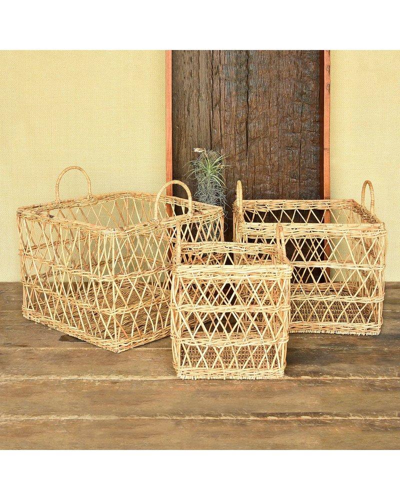HomArt Kuta Rattan Baskets - Set of 3 - Rattan