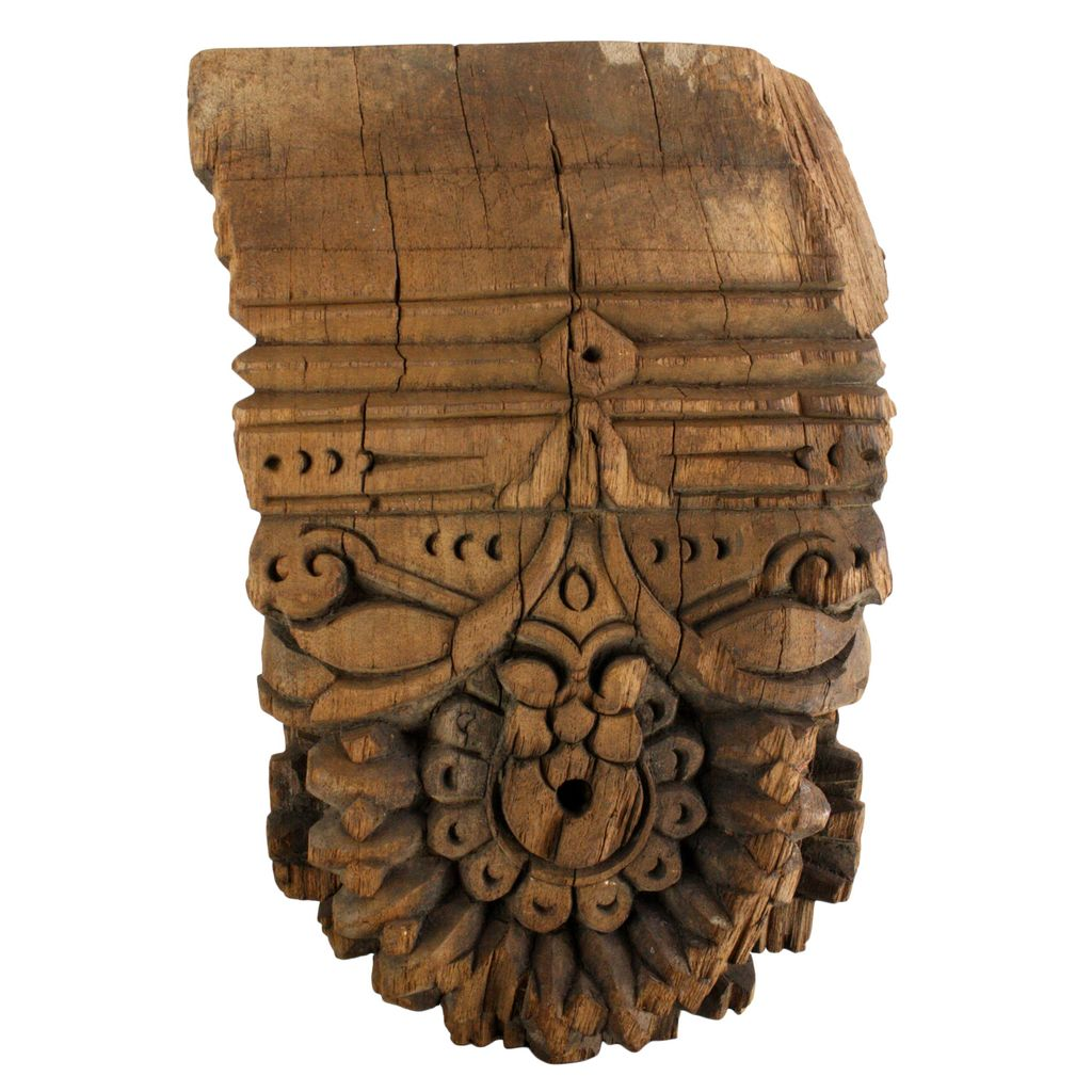 Image of: Homart Bombay Corbel Wall Sconce Reclaimed Wood Natural Areohome