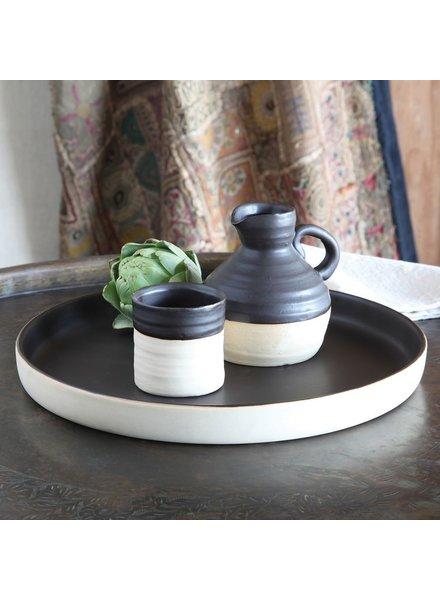 HomArt Tucker Ceramic Vase - Matte Brown & Natural