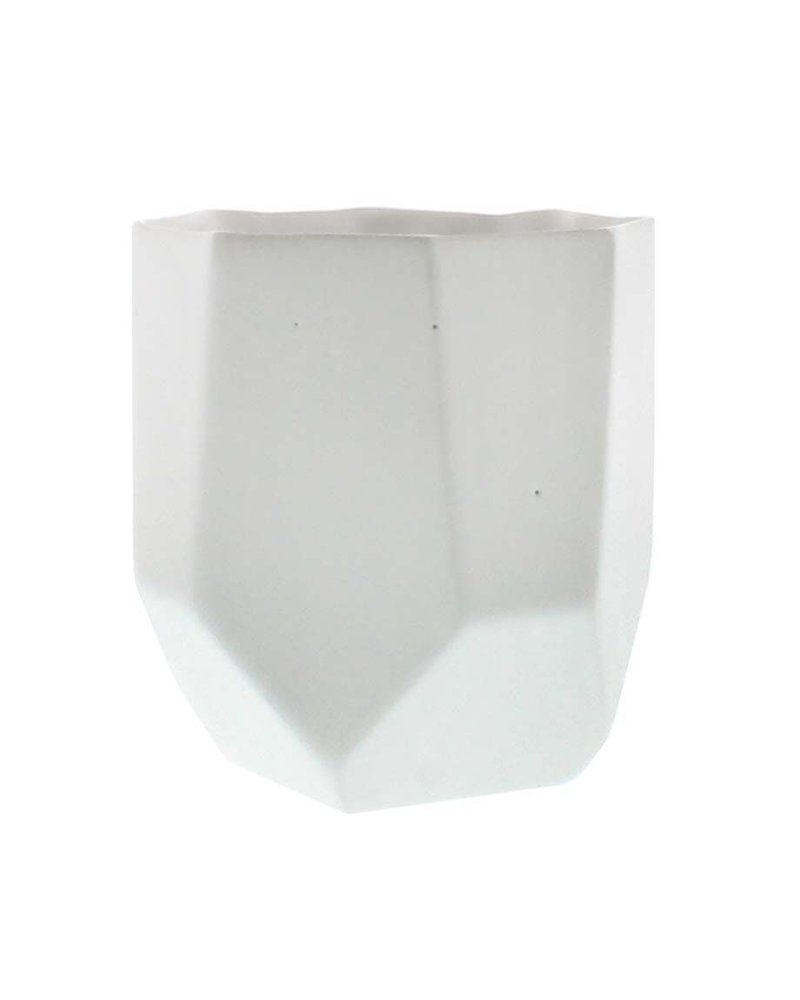 HomArt Lund Ceramic Vase - Sm - Matte White - Set of 2