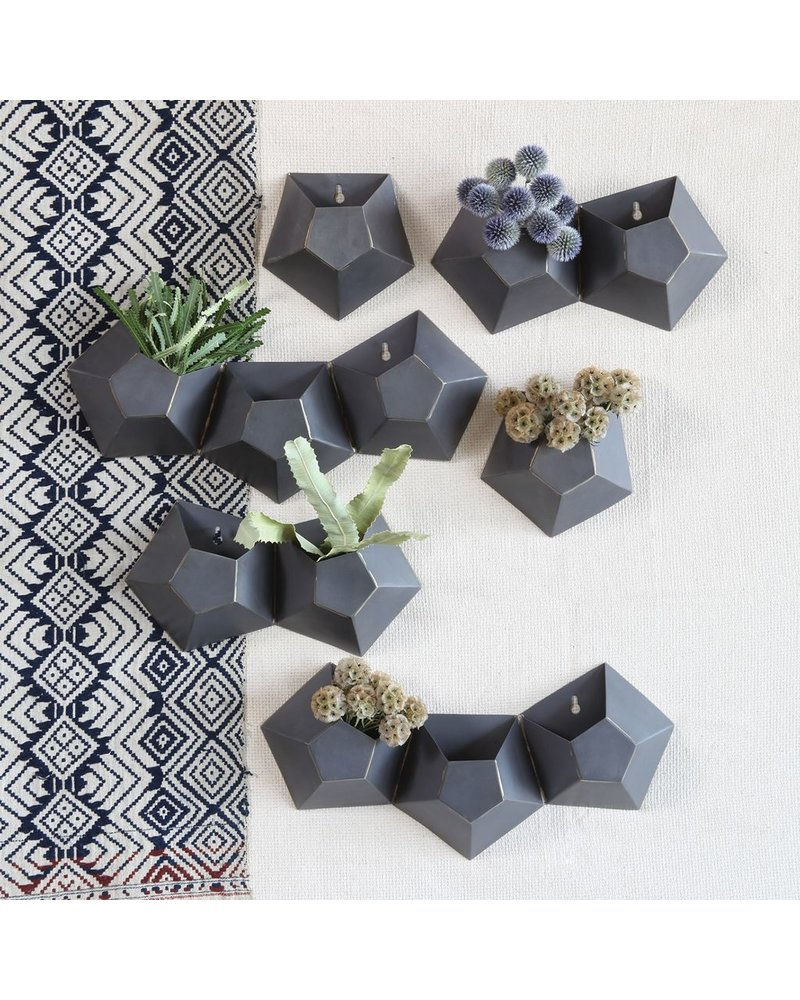 HomArt Hexagonal Iron Wall Vase - Triple