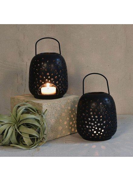 HomArt Noche Ceramic Lantern - Sm - Matte Black