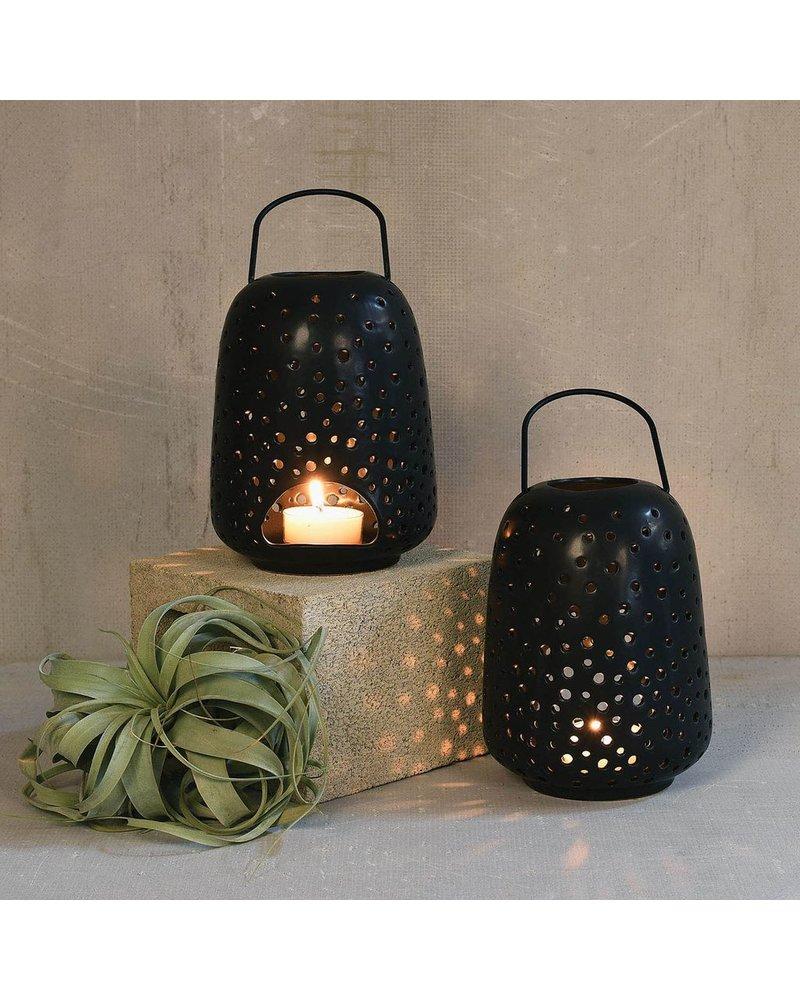 HomArt Noche Ceramic Lantern - Lrg - Matte Black