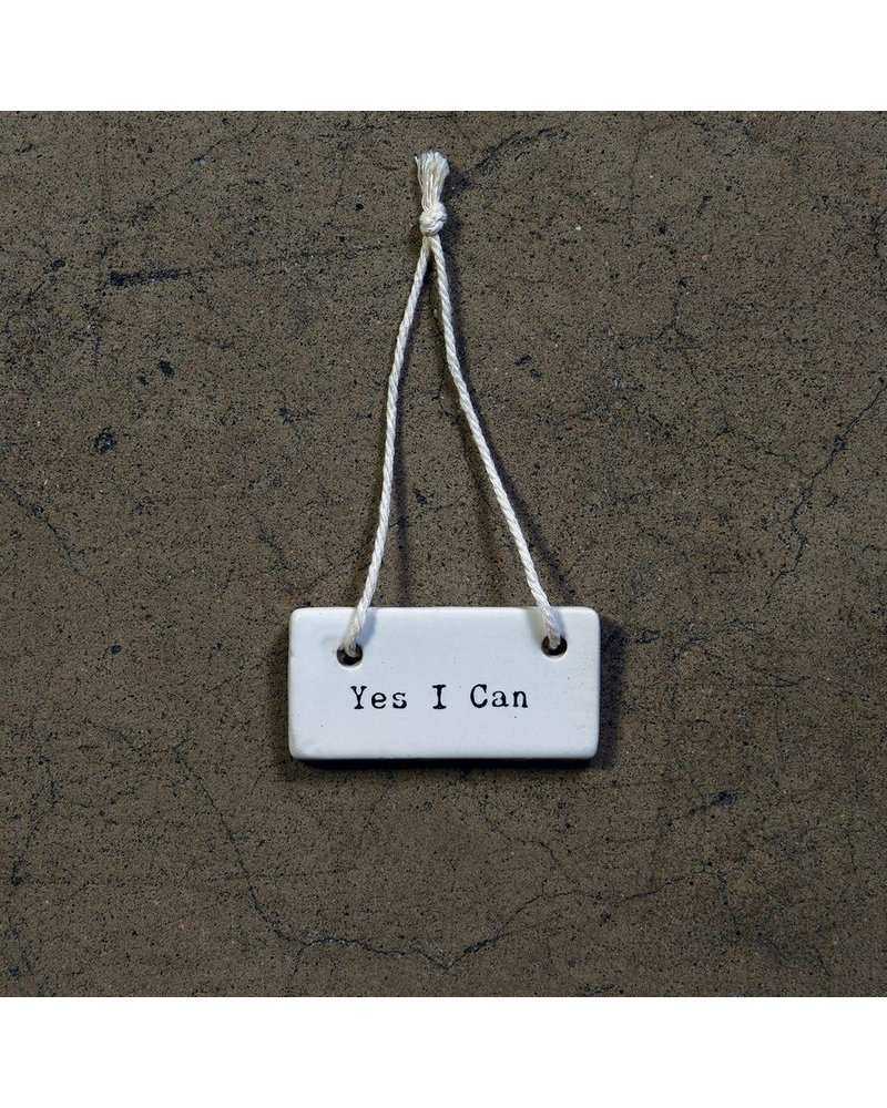 HomArt Yes I Can Ceramic Tag - Set of 4