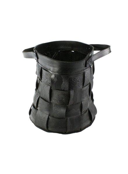 HomArt Reclaimed Tire Basket - Sm - Natural Rubber