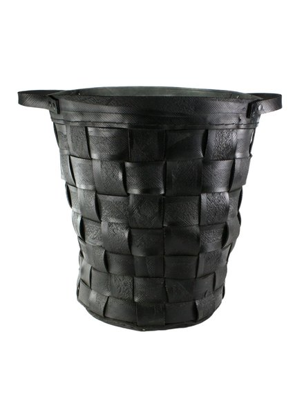 HomArt Reclaimed Tire Basket - Lrg - Natural Rubber