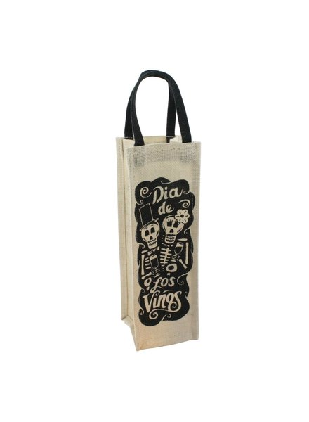 HomArt Wine Tote - 1 Bottle - Dia De Los Vinos - Set of 3