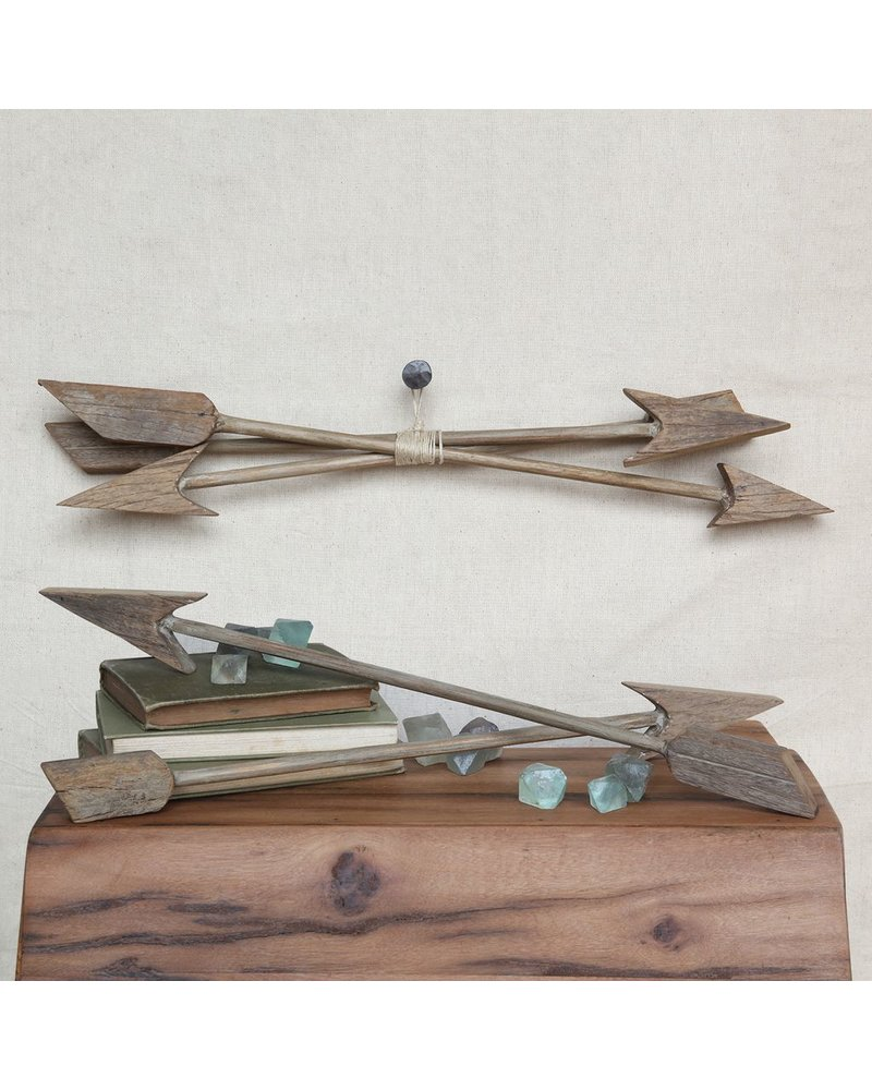 HomArt Reclaimed Wood Arrows, Set of 3 - Assorted - Natural