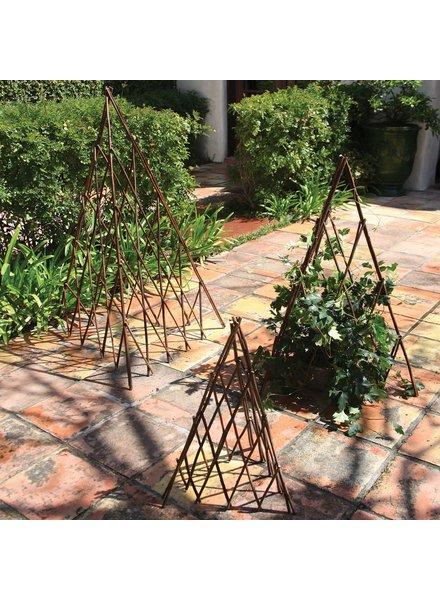 HomArt Pyramid Twig Trellis - Med - Natural