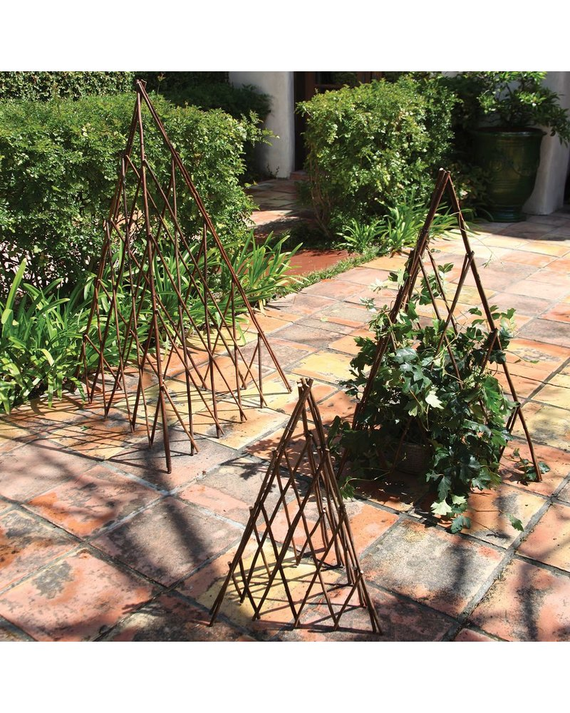 HomArt Pyramid Twig Trellis - Lrg - Natural