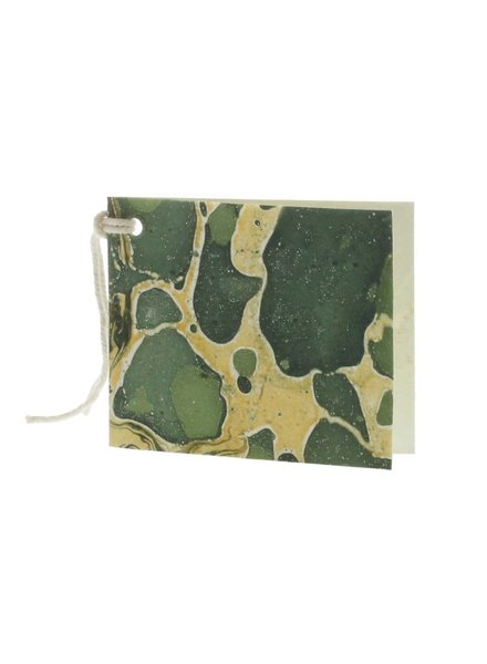 HomArt Green Marbleized Paper Gift Tag - Pack of 12 - Set of 6 Packs