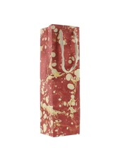 HomArt Marbleized Paper Wine Bag - Red