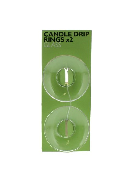 HomArt Clear Glass Candle Drip Rings - Set of 12 Packs of 2