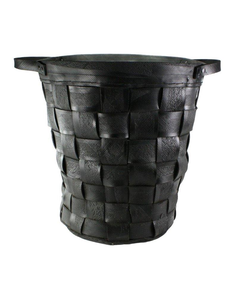 HomArt Reclaimed Tire Basket - Lrg - Natural Rubber