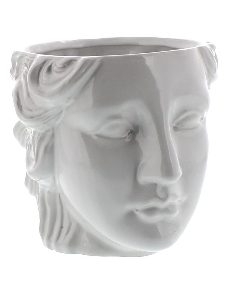 HomArt Juno Ceramic Head Cachepot - White