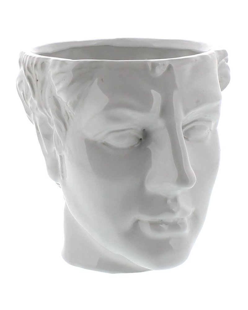 HomArt Apollo Ceramic Head Cachepot - White