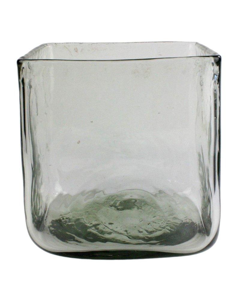 HomArt Hamilton Vase Sqr - Grand - Clear
