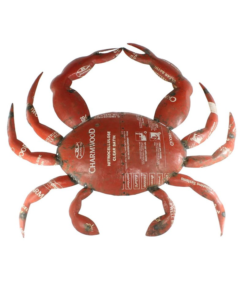HomArt Reclaimed Metal Crab - Wall Mount Object