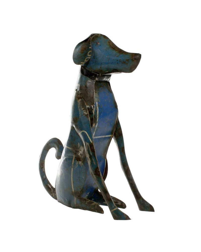 HomArt Reclaimed Metal Sitting Dog - Lrg
