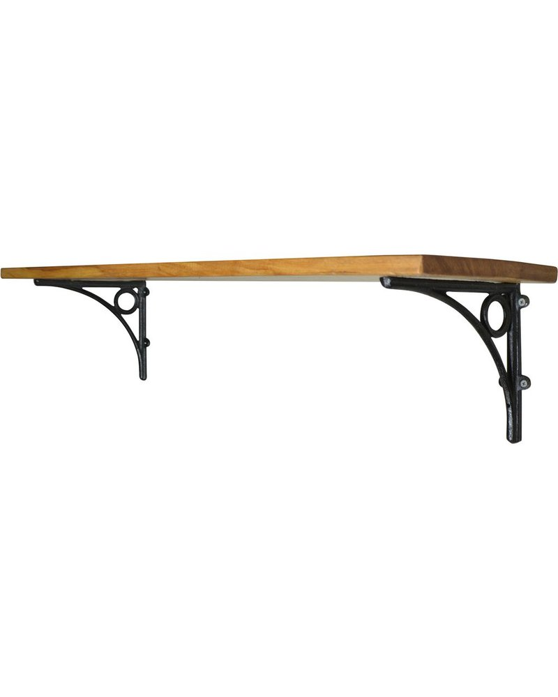 HomArt D'Orsay Shelf - 36 in - Black Brackets