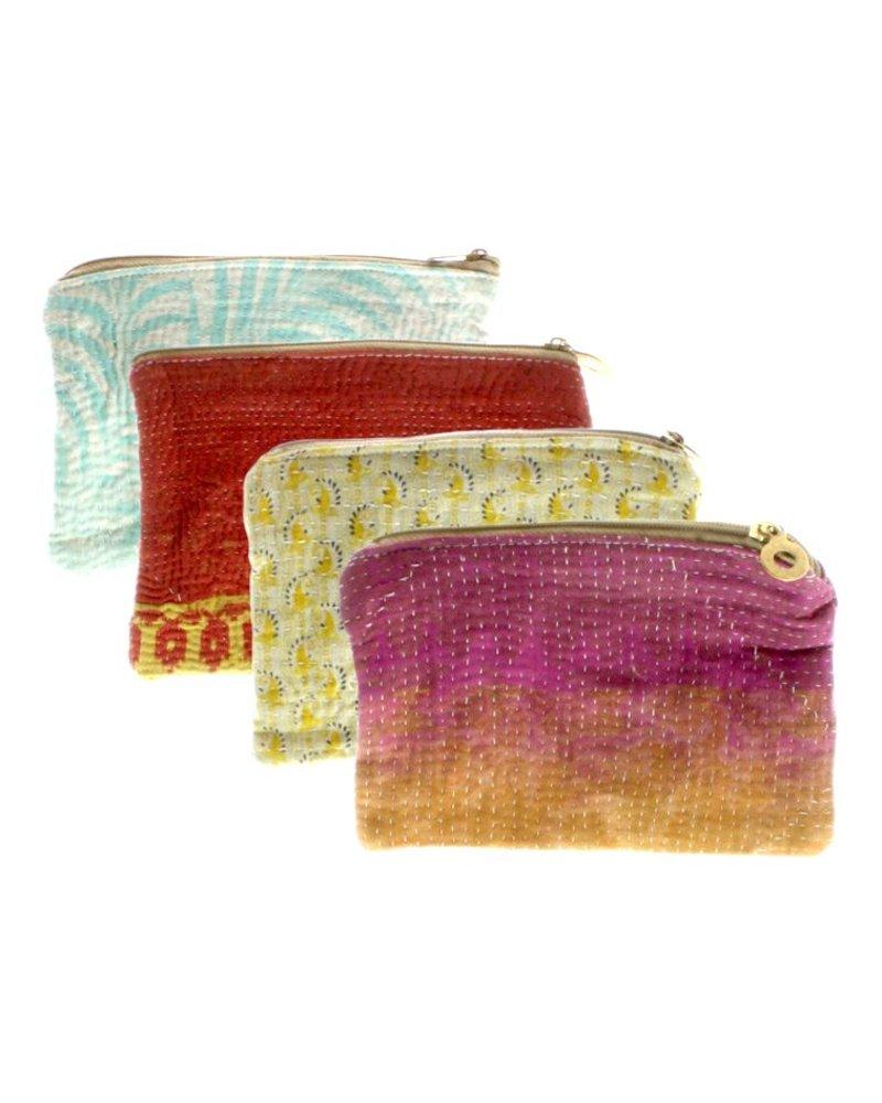 HomArt Kantha Fabric Pouch - Set of 2
