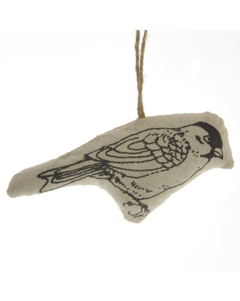 HomArt Linen Stamped Ornament - Bird